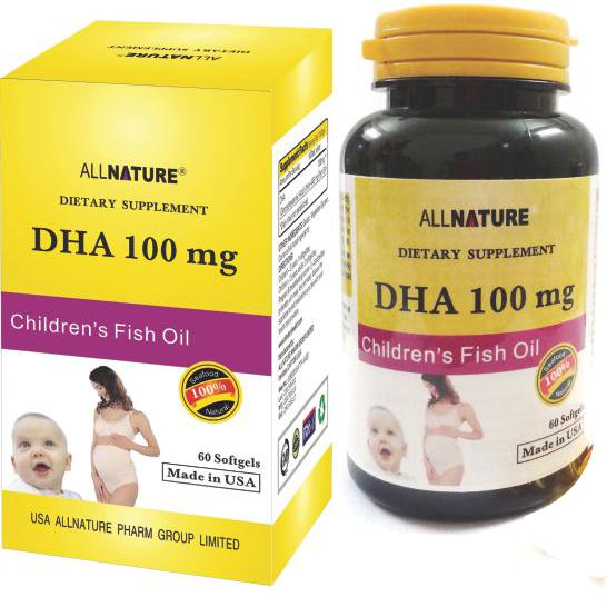 TP bảo vệ sức khỏe DHA 100 mg: Bổ sung DHA cho trẻ em, phụ nữ có thai và cho con bú